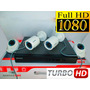 Kit 4 Camaras De Seguridad Hikvision Turbo Full Hd 1080p