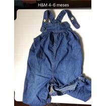 Braga De Jeans Para Bebe Niña H&m 4-6 Meses