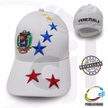 Gorras Blancas Venezuela 7 Estrellas Tricolor