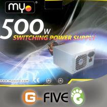 Fuente De Poder Myo 500w 20+4 Pin Sata 12v