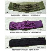 Cinturones Para Damas Con Flequitos Y Cierre Magico