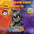 Pokémon Evento Marshadow Sun Moon 3ds