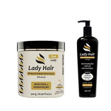 Kit Recuperação Ladyhair Mascara Hidrat + System Reverse Sos