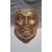 Mascara Dorada Con Escarcha Para Disfraces Carnaval