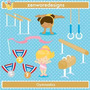 Kit Imprimible Gimnasia Artistica 6 Imagenes Clipart