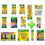 Kit Escolar Papeleria Colores Pintura Kinder Crayola