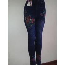 Leggins Tipo Blue Jean, (tela Gruesa - Importados)