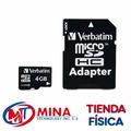 Tarjeta De Memoria Micro Sd 4gb Con Adaptador Clas4 Verbatim