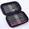 Tejido, Set  22 Agujas Para Crochet + Estuche De Cuerina