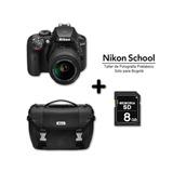 Cámara Nikon D3400 +18-55mm + Sd 8gb +maletin
