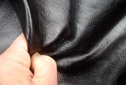 a-1 cuero de tapicería piece leather black