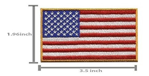 a-16, 2 piezas usa american flag patches iron on embroidered