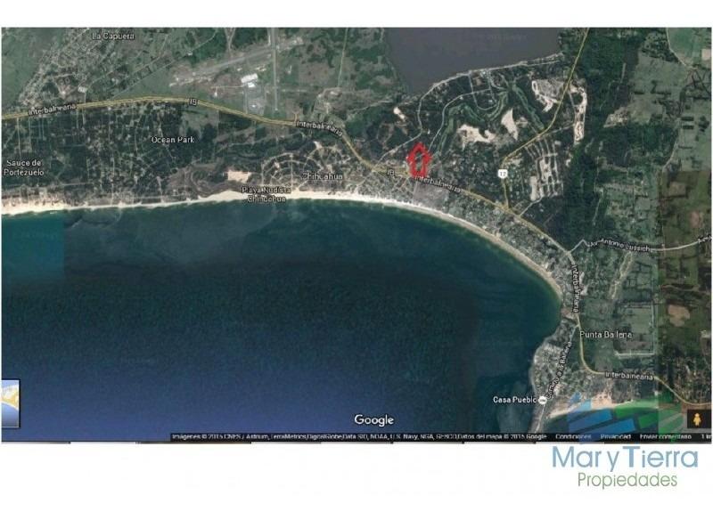 a 600 metros aprox. de la playa portezuelo de tio tom y a 500 metros aprox. de la laguna del sauce. -ref:1828