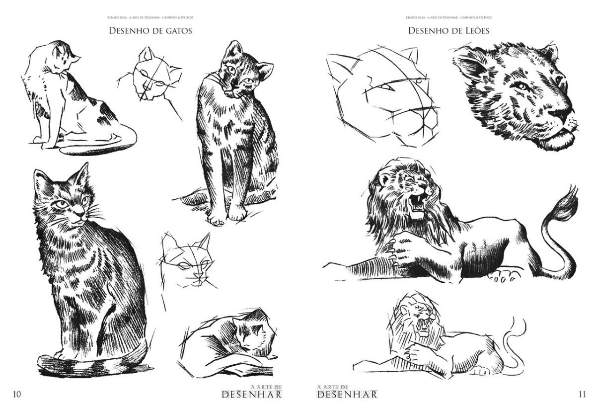 a arte de desenhar caninos e felinos renato silva r 50 00 em