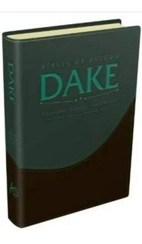 a bíblia de estudo capa luxo dake grande editora atos