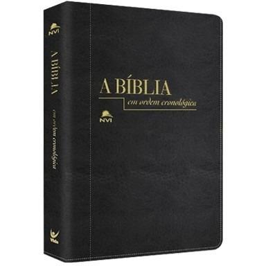 a bíblia em ordem cronológica versão luxo nvi capa costurada