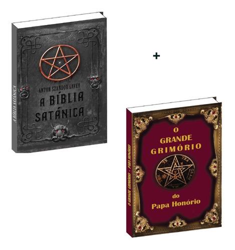 a bíblia satânica + o grande grimório + frete grátis