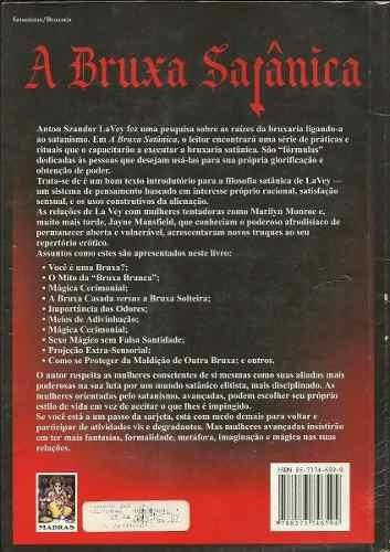 a bruxa satanica livro raro