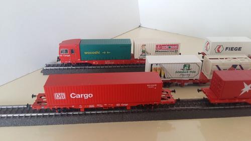 a cargo sprinter tren porta containers marklin 34090 marklgh
