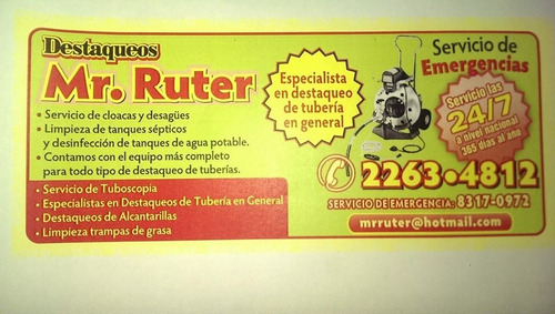 a destaqueos de tuberia mr ruter 22634812 83170972