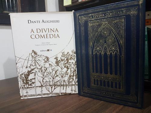 a divina comédia - dante alighieri - ed. ilustrada + italian