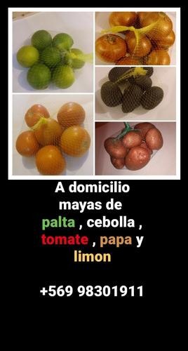 a domicilio mallas de palta, tomate , cebolla ,limon y papa