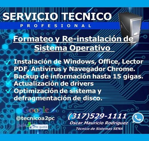 a domicilio mantenimiento  de computadores (tecnico sena)