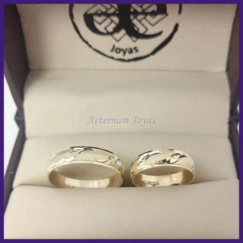 a e.- argollas de matrimonio mod kuzma oro 10k broqueles oro