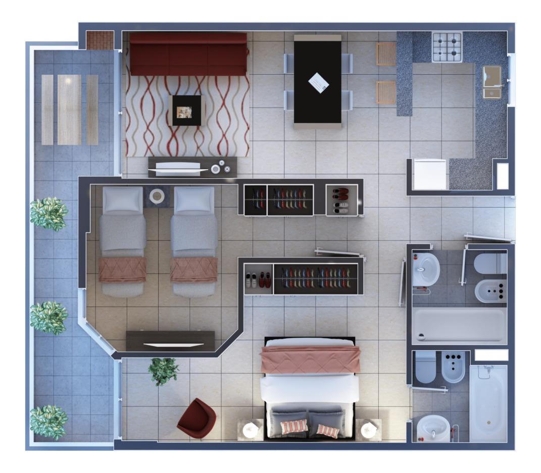 a estranar 2 dormitorios sobre estrada piso alto, cerca de plaza españa y parque sarmiento