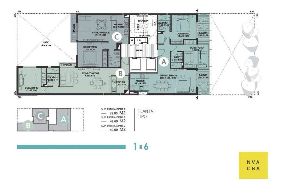 a estrenar- 1 dormitorio- nueva cba- financiación!!