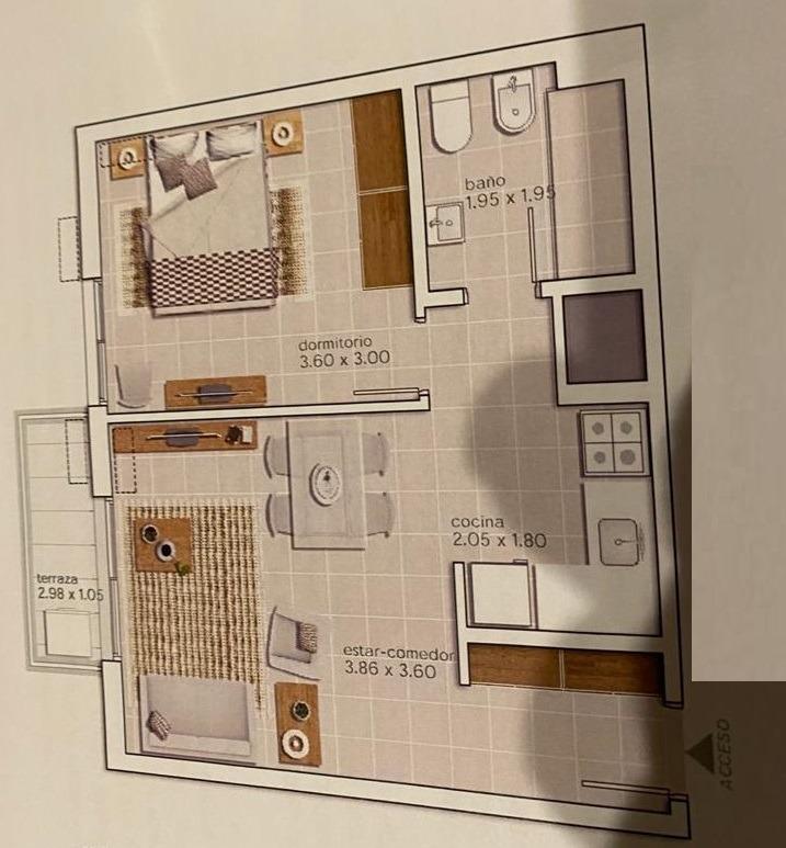 a estrenar! excelentes terminaciones 1 dormitorio con placar