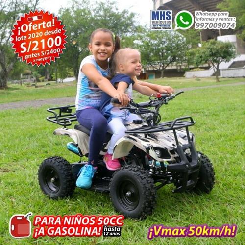 a gasolina pa' niños cuatrimotos profesionales ¡50km/h! moto