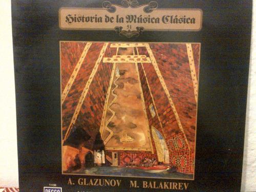 a. glazunov y m. balakirev - h de la musica clasica vinyl