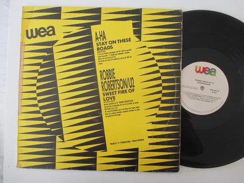 a-ha, bee gees, gene loves ,lp promo 1988 (leia descrição)