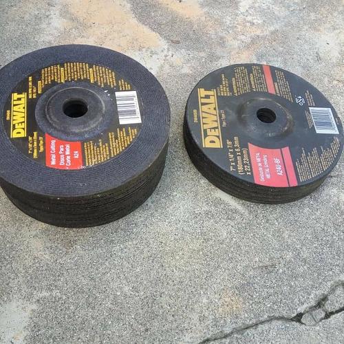 a la venta discos para esmeril de 7  . 3 mm de grosor nuevos