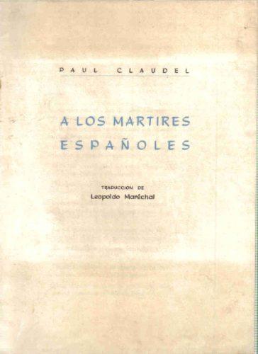 a los martires españoles - claudel