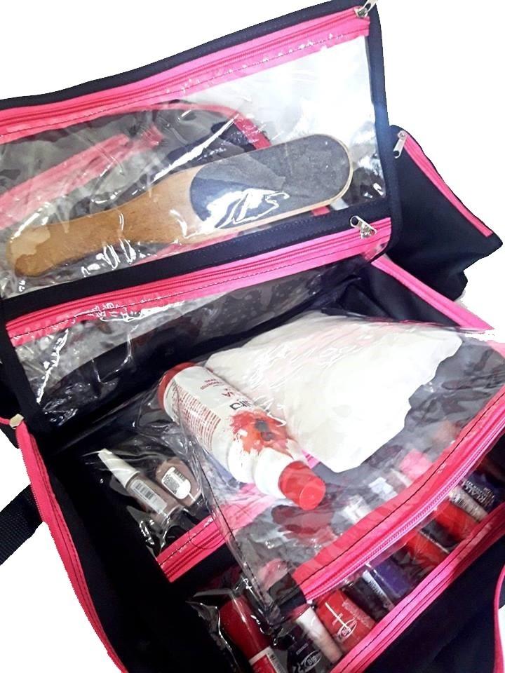 93a9d6d37 a mais vendida bolsa para até 120 esmaltes para manicure top. Carregando  zoom.