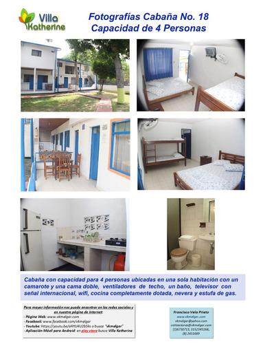 a melgar. cabañas 4, 6 y 8 personas y habitaciones 2 persona