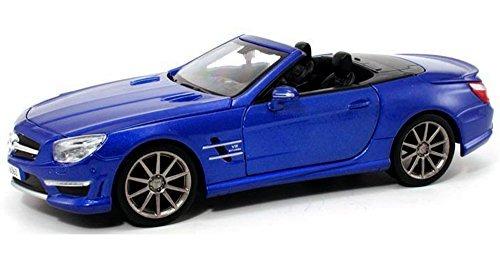 A Mercedes Benz Sl63 Amg Roadster, Azul   Maisto 31503   1/2