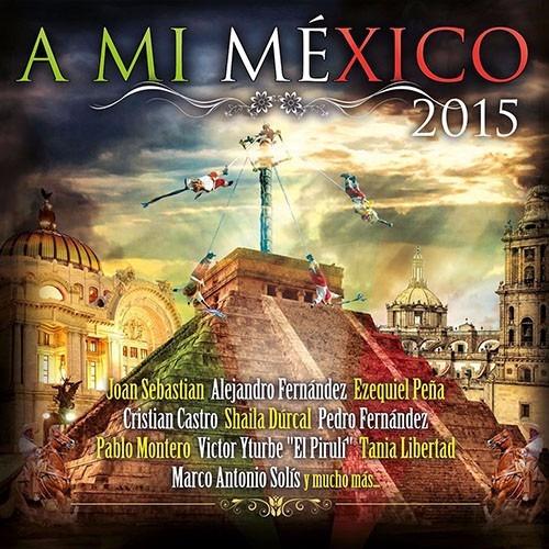 a mi mexico 2015 varios disco cd con 17 canciones