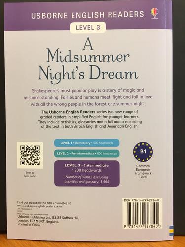 a midsummer night s dream  usborne english readers 3 +@audio