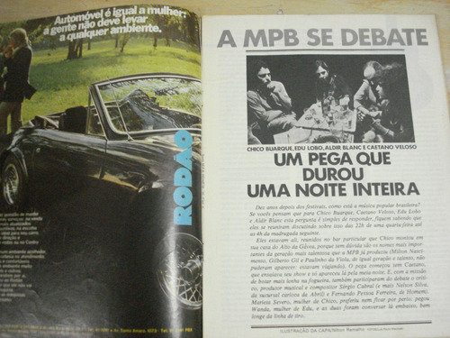 a mpb se debate - suplemento especial da revista homem