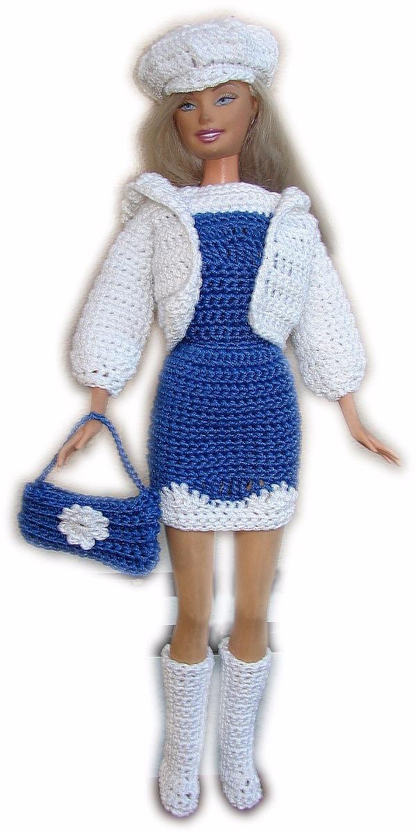 A Pedido Conjunto De Ropa Para Barbie Tejido Crochet - $ 140,00 en ...