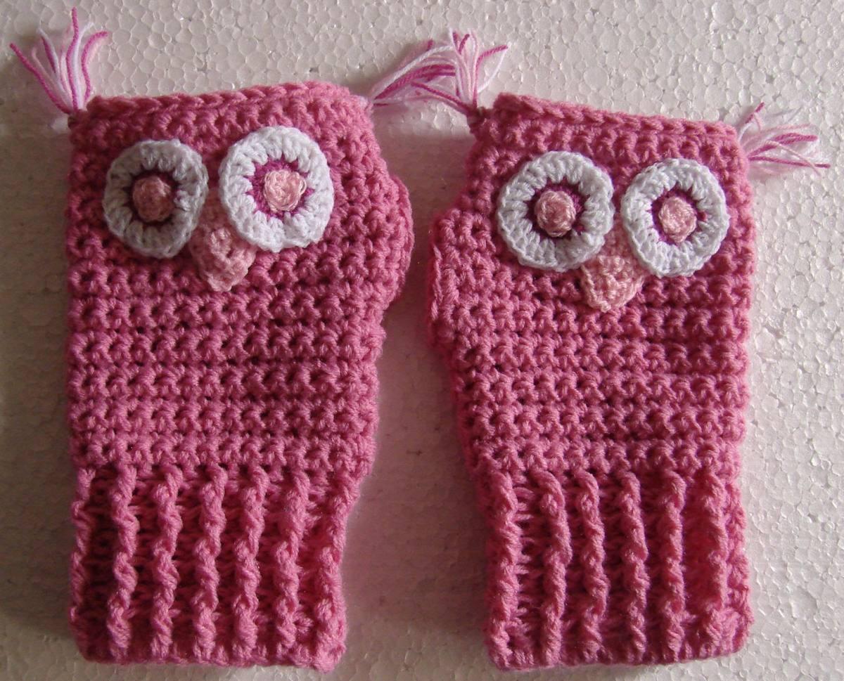A Pedido Mitones Guantes Sin Dedos Crochet Dama Mujer Lana - $ 150 ...