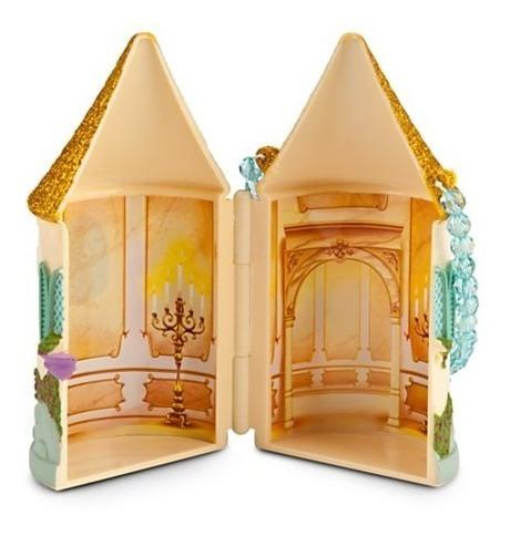 a pequena sereia castelo 02 bonecos com acessórios disney