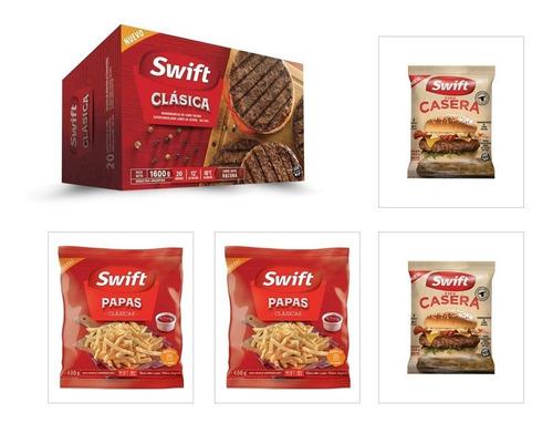 a puro swift - hamburguesas y papas - pack familiero