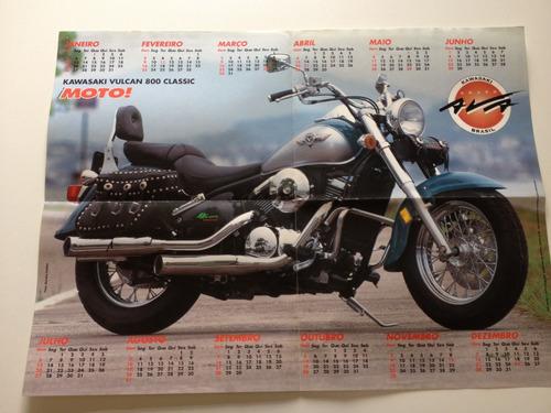a revista da moto pôster kawasaki vulcan 800 classic a530