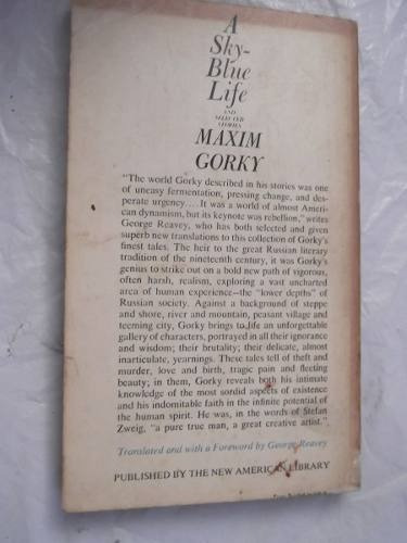 a sky blue life and other stories maxim gorki en ingles