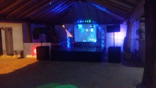 a sonido alquiler bodas,15 años,minitecas,dj,pantallas,luces