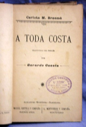 a toda costa - carlota braemé / 1900